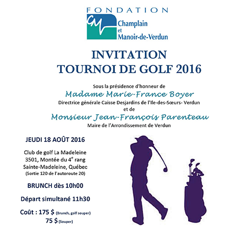 affiche invitation golf